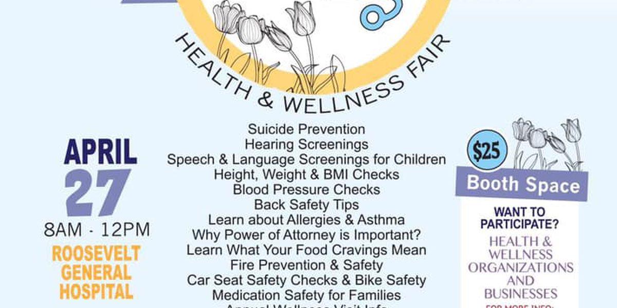 Feria de salud y bienestar de primavera ofrecida por el hospital Roosevelt