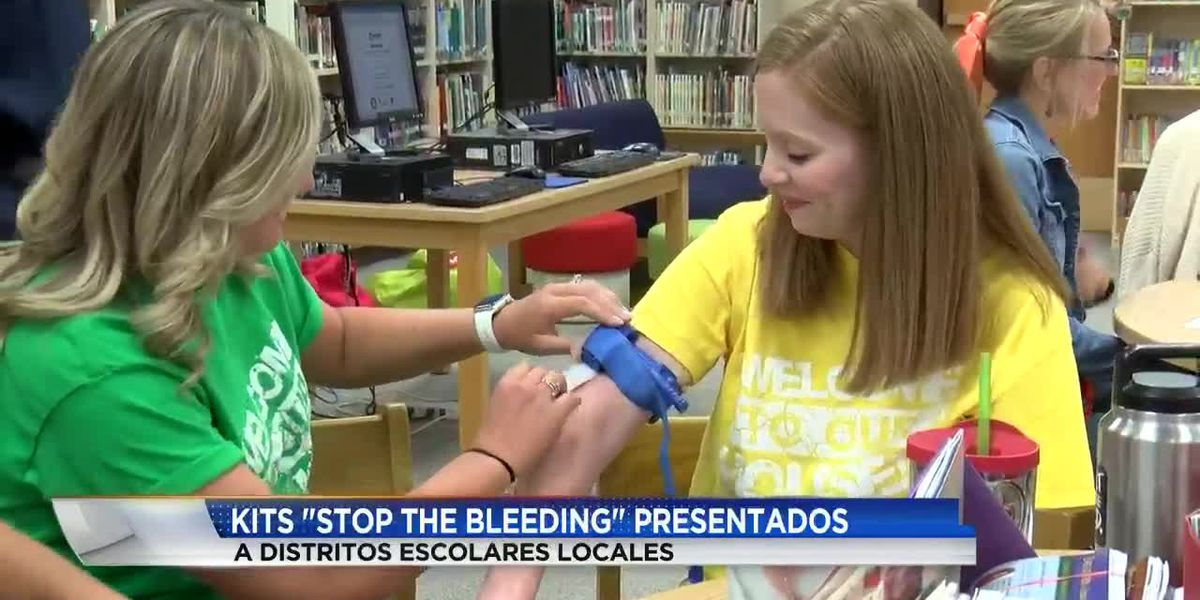 "Kits ""Stop the Bleeding"" presentados a distritos escolar de Amarillo y Canyon"