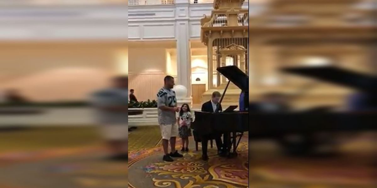 Dad belts out 'Ave Maria' in lobby of Disney World resort